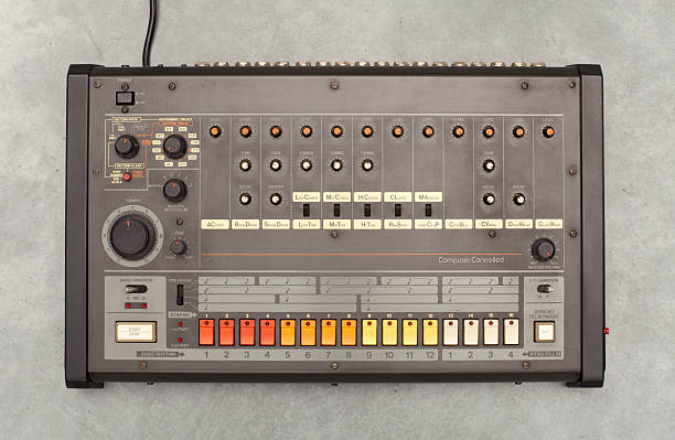 Retro drum computer  synthesizer stock pictures, royalty-free photos & images