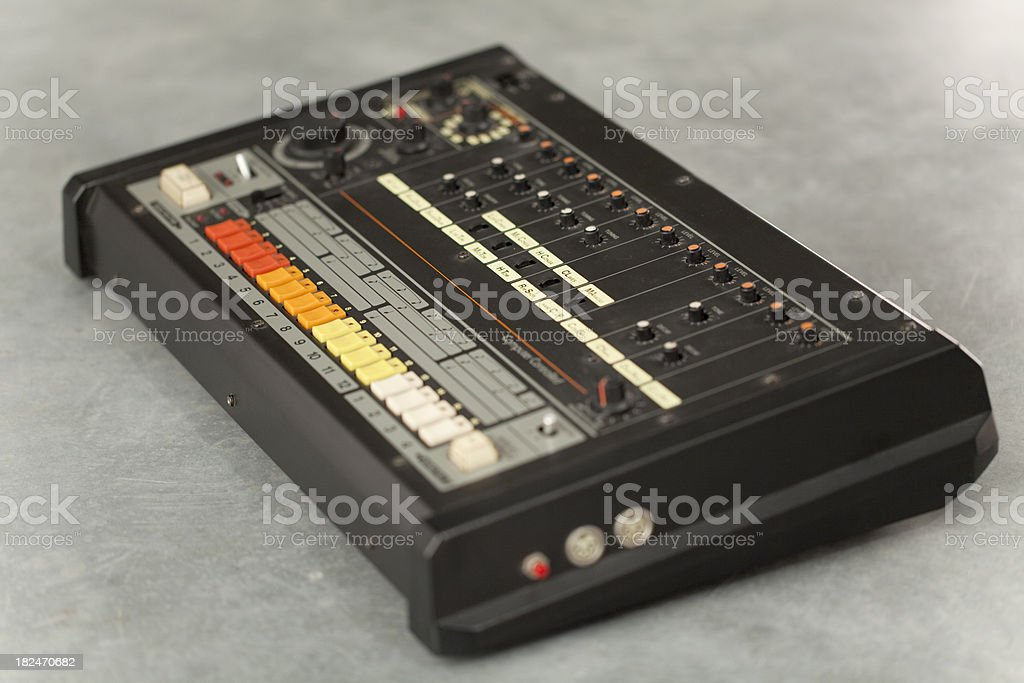 Retro drum computer stock photo