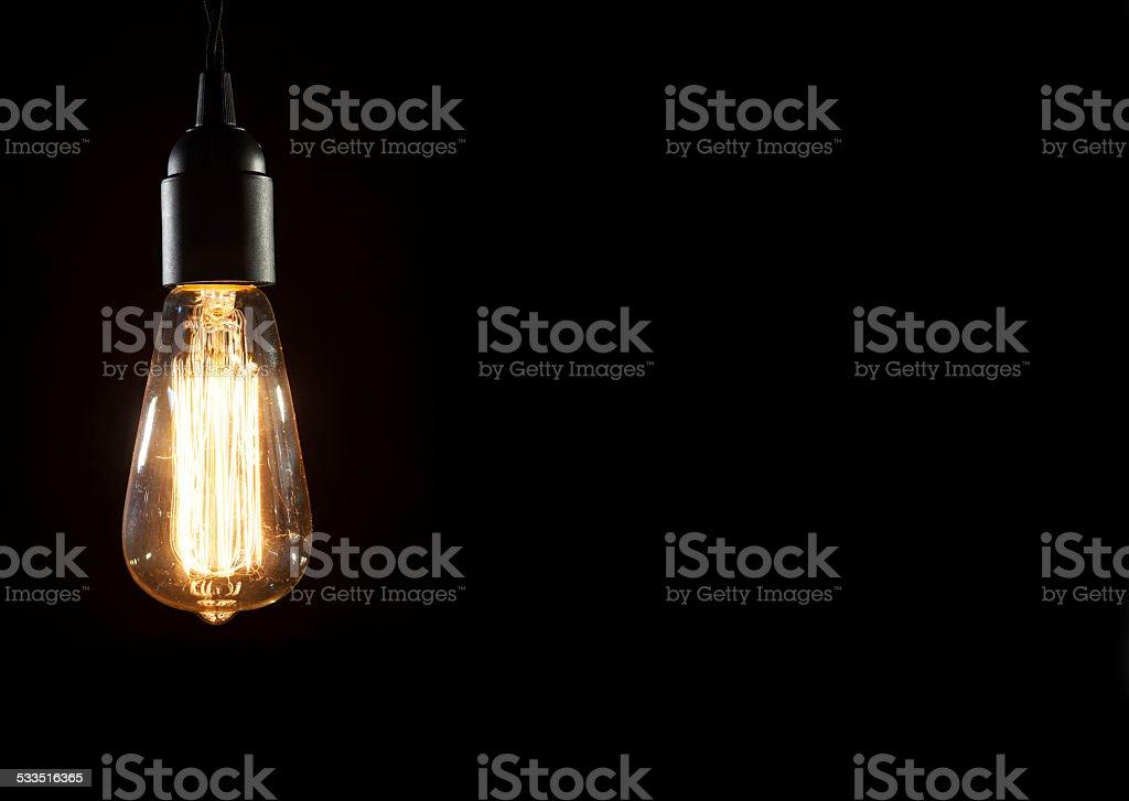 retro edison light bulb stock photo