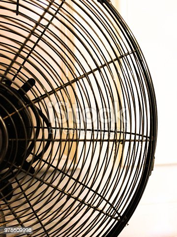 istock Retro electric fan for background concept close-up 975509998