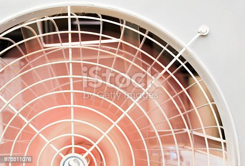 istock Retro electric fan for background concept close-up 975511076