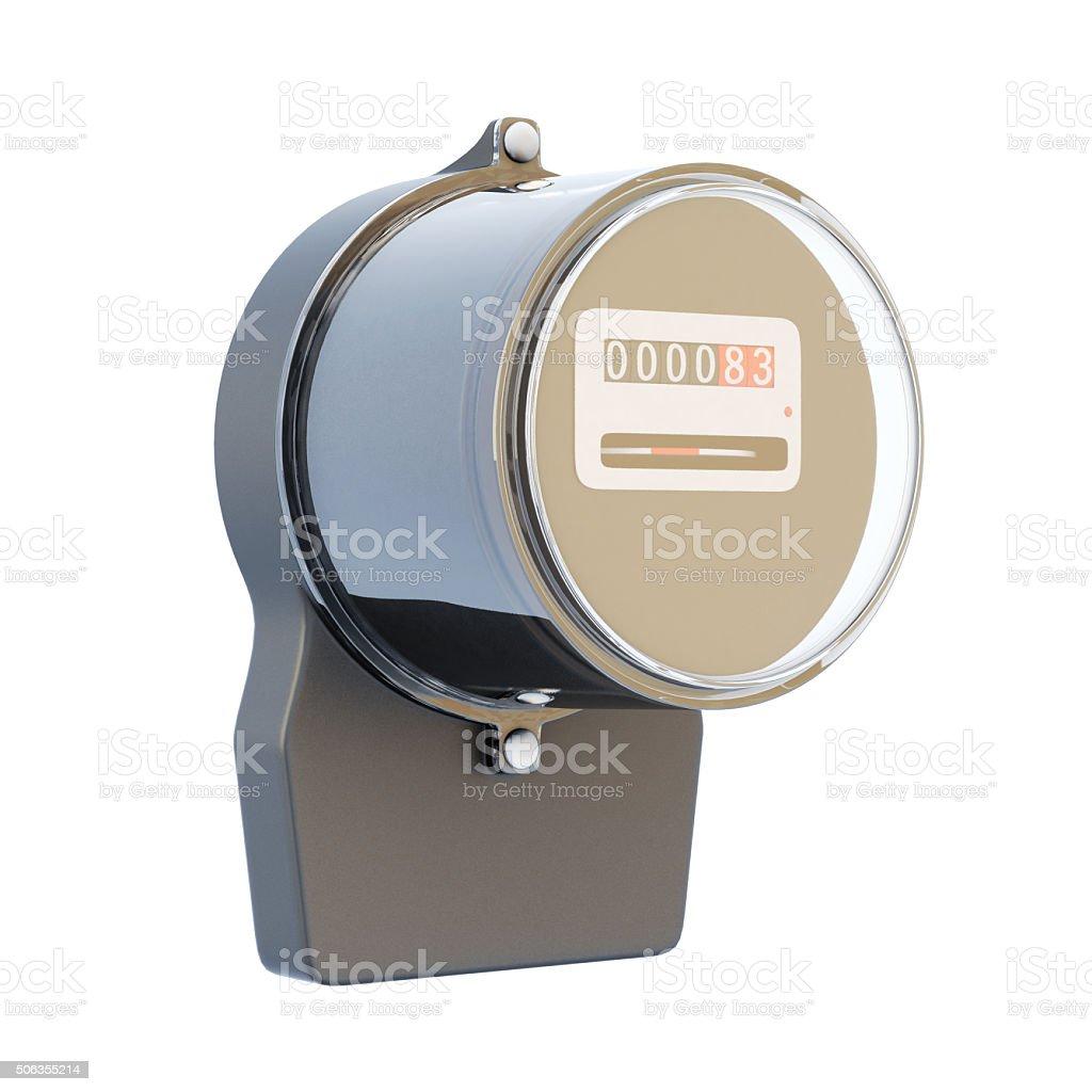 Retro electric meter stock photo