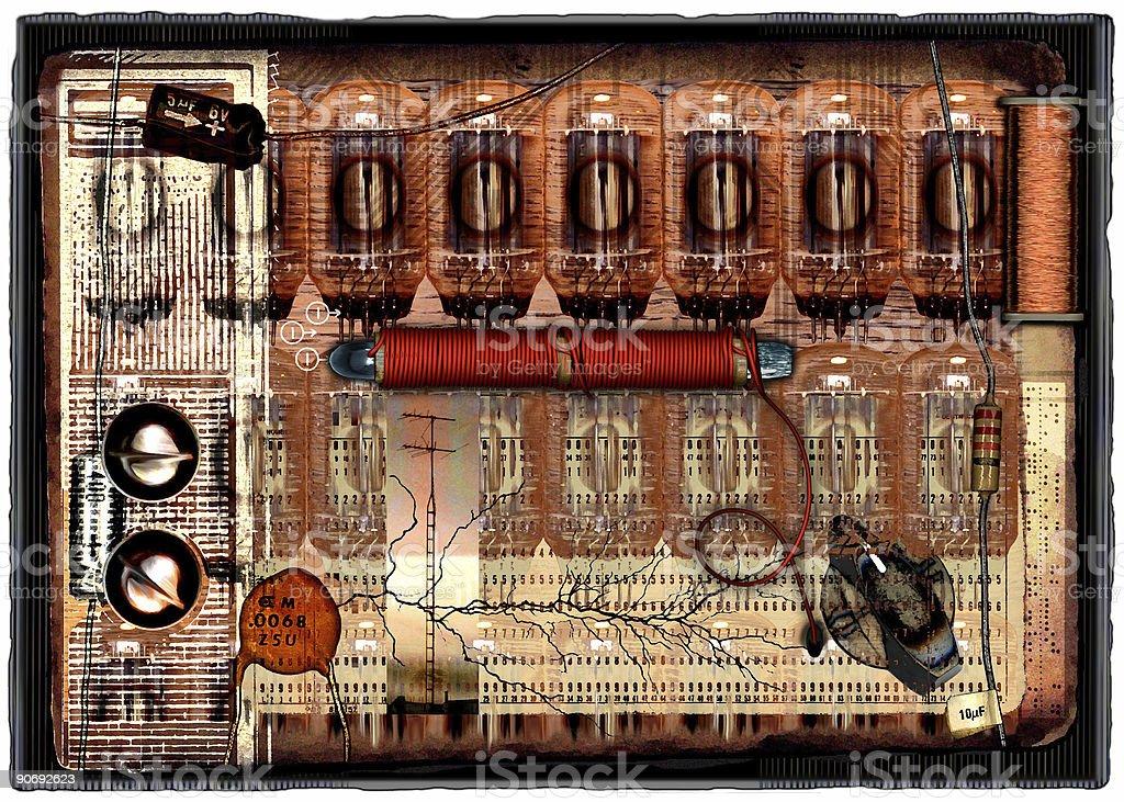 Retro Electro stock photo