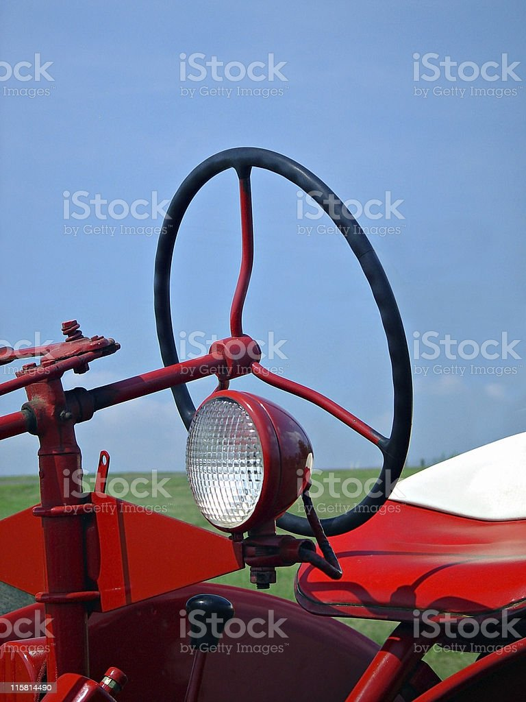 Retro Farm Tractor royalty-free stock photo