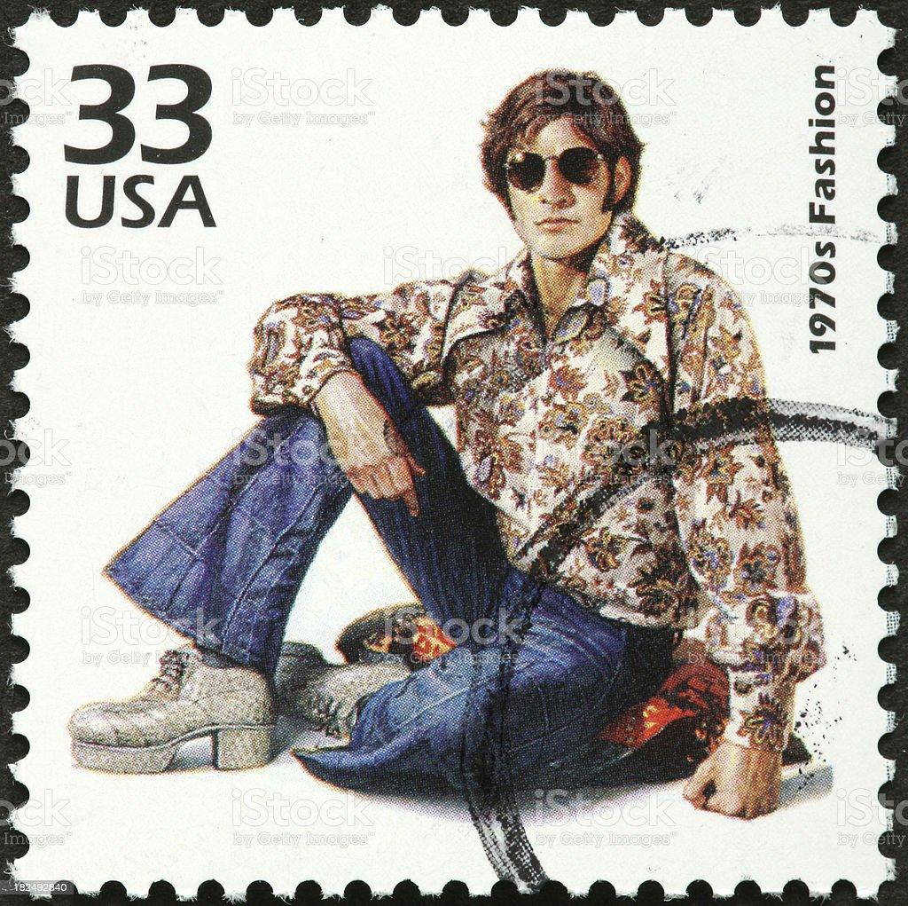 retro fashion 1970s stock photo