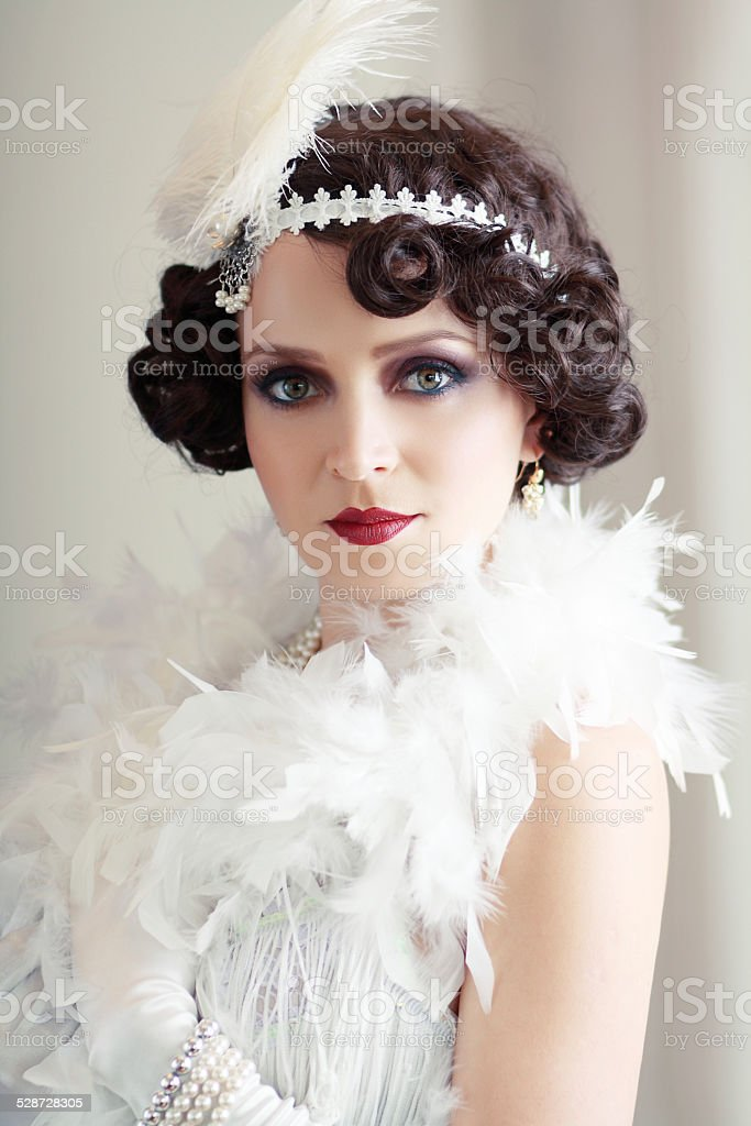 retro flapper style stock photo