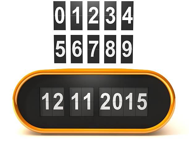 feuilles rétro modèle 3d calendrier, à établir votre propre date - calendrier digital journée photos et images de collection