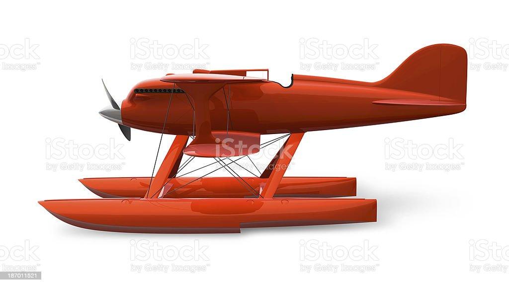 Retro Float Plane royalty-free stock photo
