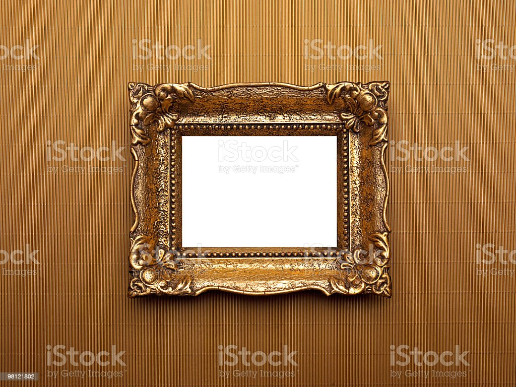 Retro Frame on Gold Background royalty-free stock photo