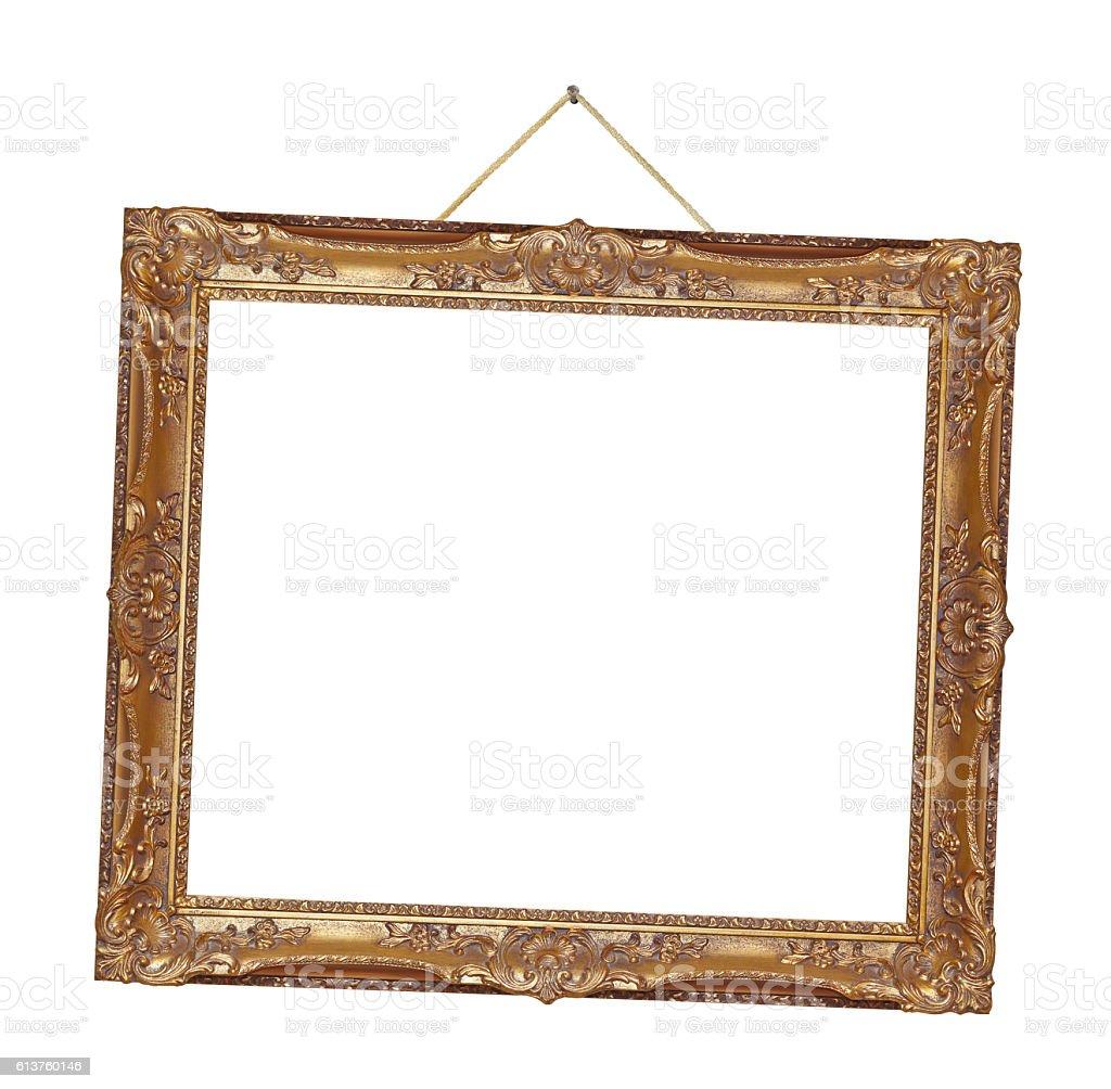Retro frame on rope stock photo