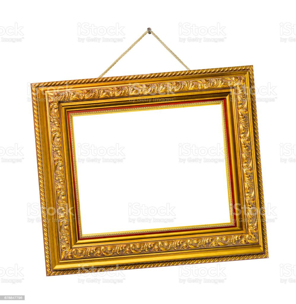 Retro frame on rope stock photo