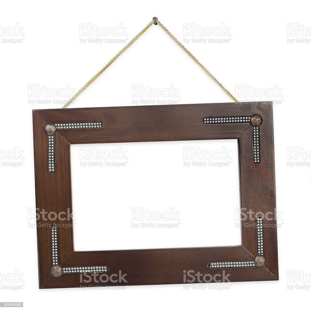 Retro frame on string royalty-free stock photo