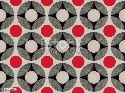 istock Retro: funky wallpaper. 176877388