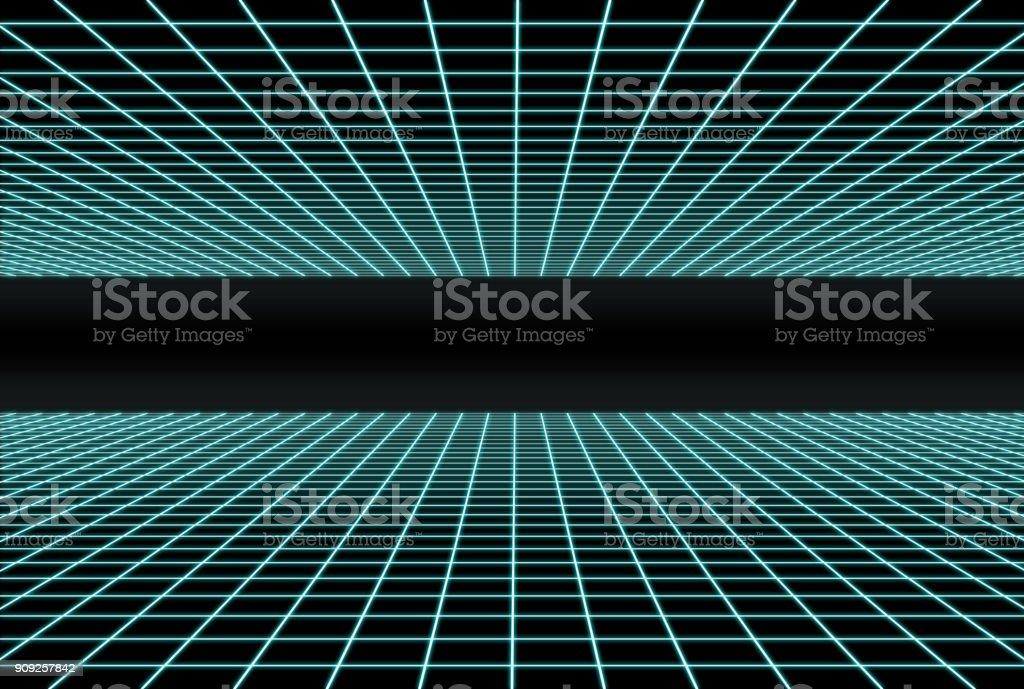 Retro Futuristic double grid stock photo