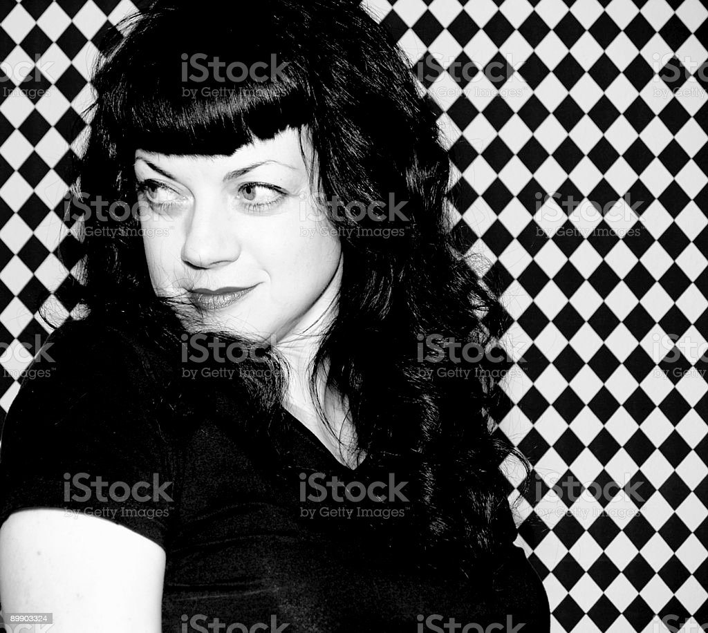 Retro gal royalty-free stock photo