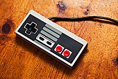 istock Retro Game Console controller 157437668