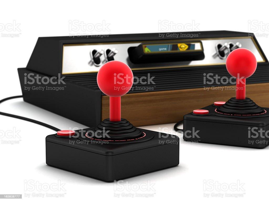 Retro game console stock photo
