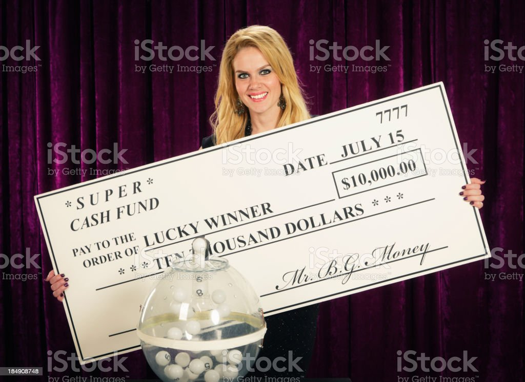 Retro Game Lottery Hostess royalty-free stock photo