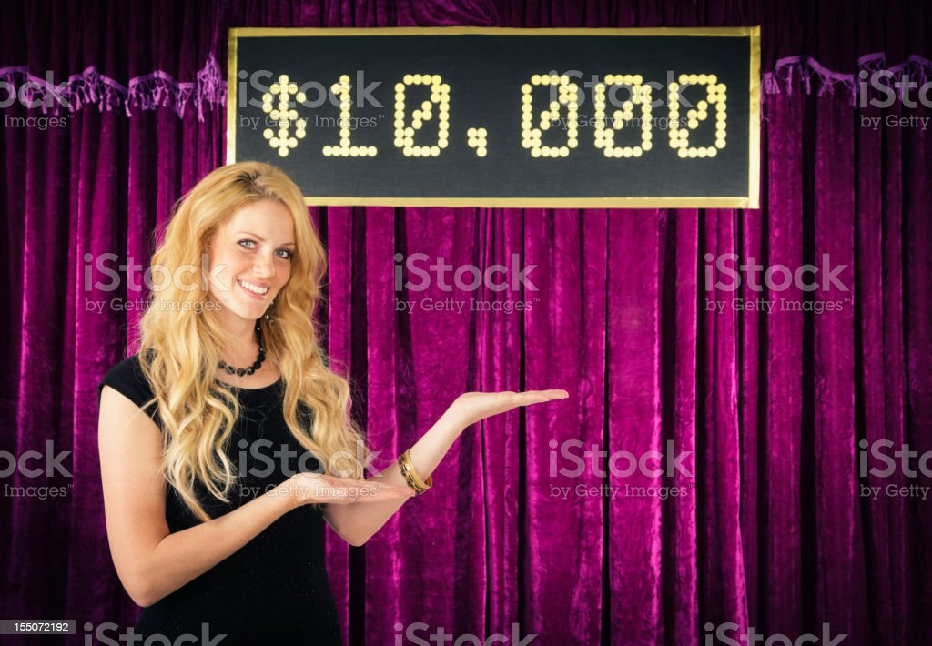 Retro Game Show Assistant stock photo