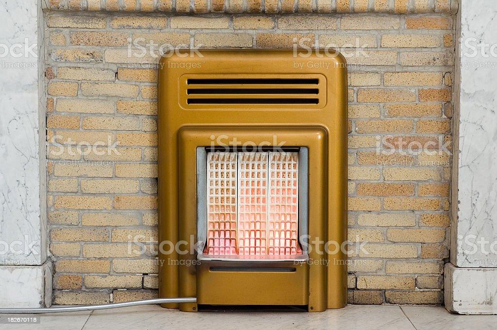Retro Gas Fire stock photo