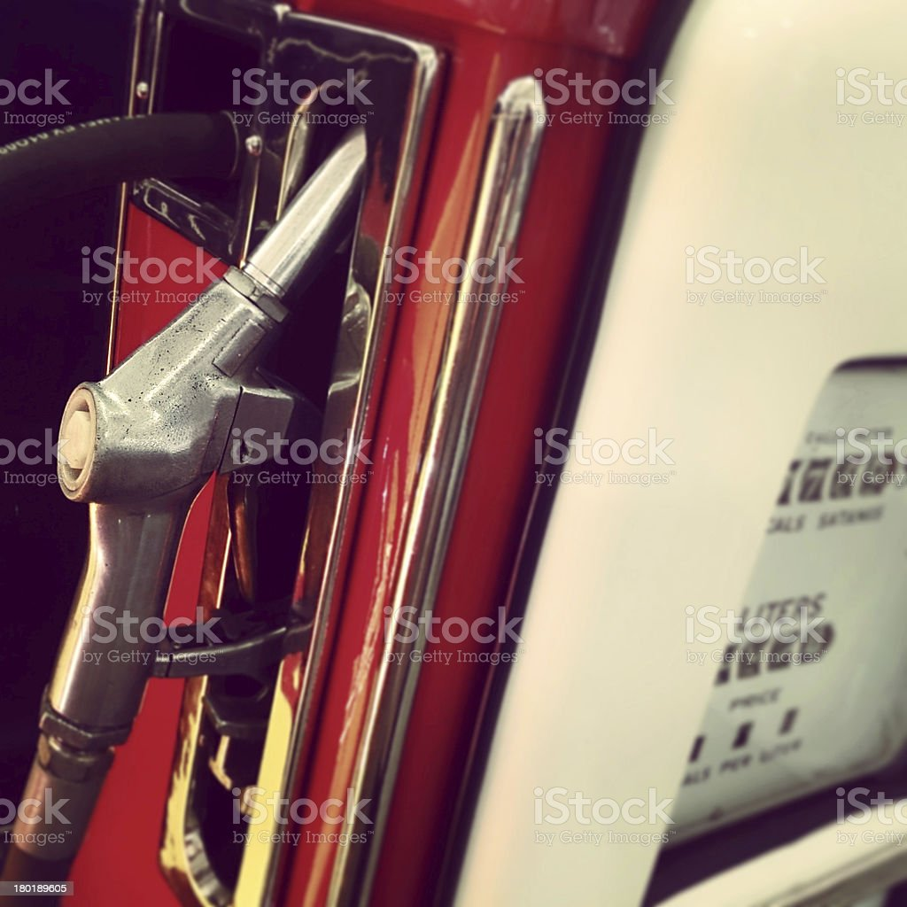 Retro Gas Pump royalty-free stock photo
