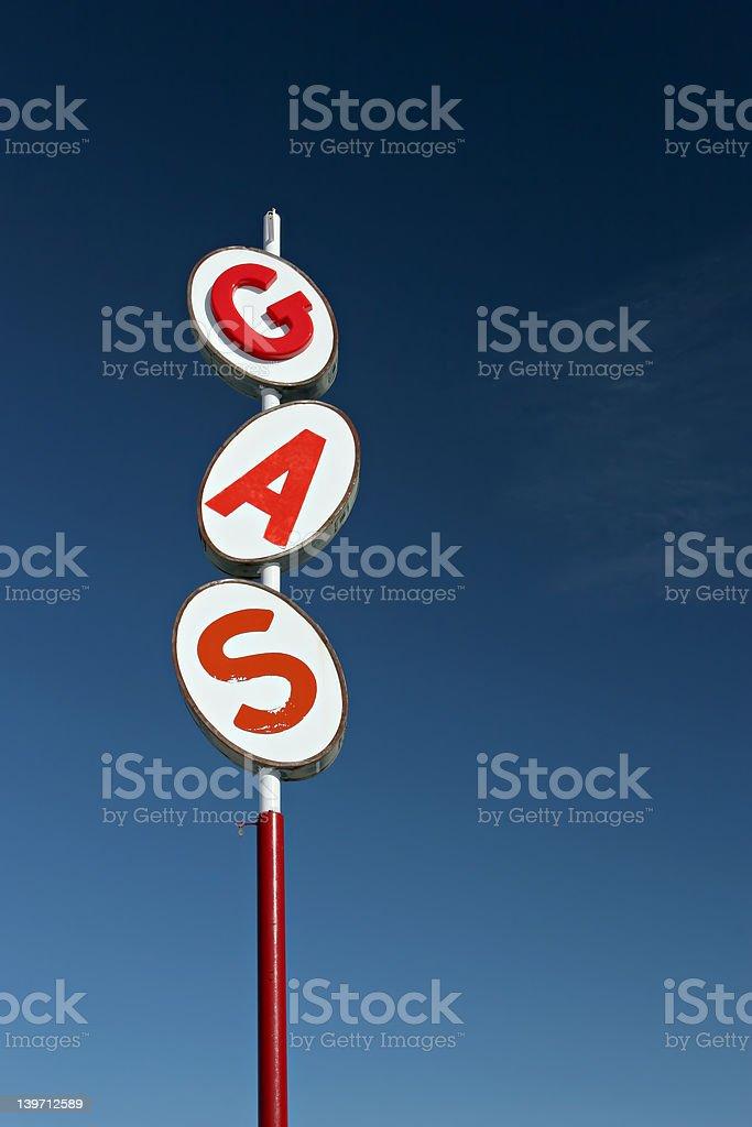 retro gas sign royalty-free stock photo