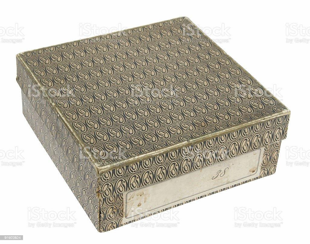 Retro gift box royalty-free stock photo