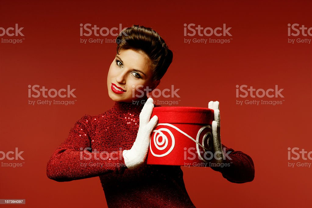 Retro Gift royalty-free stock photo