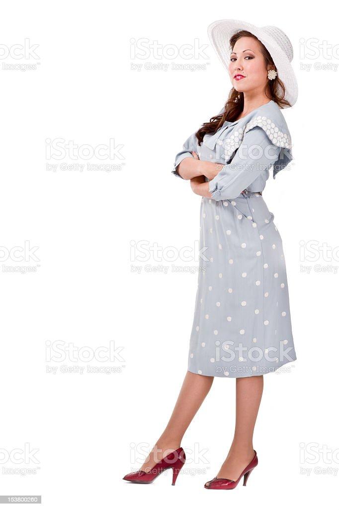 Retro Girl Isolated royalty-free stock photo