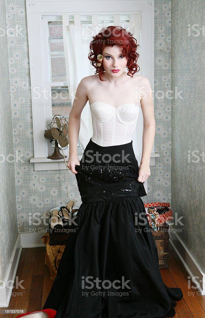 Retro Glam Girl royalty-free stock photo