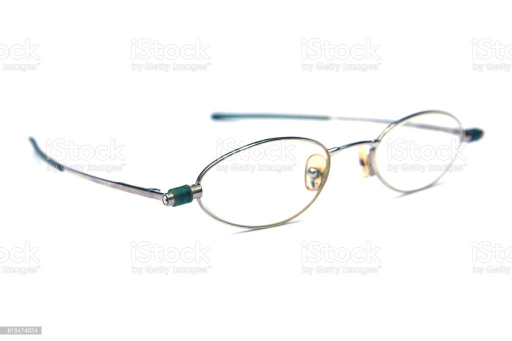 Retro glasses isolated on white background stock photo
