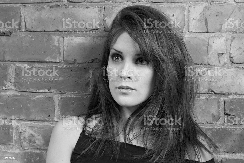 Retro Goddess (Black and White) royalty-free stock photo