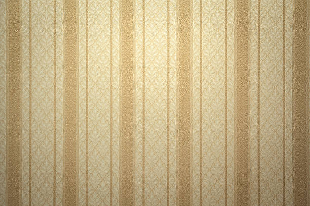 Retro gold wallpaper Gold striped wallpaper with copy space wallpaper sample stock pictures, royalty-free photos & images