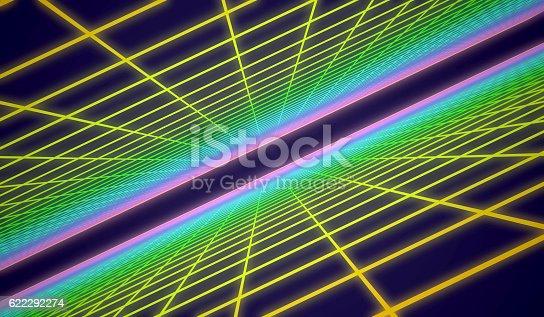 istock Retro grid background 622292274
