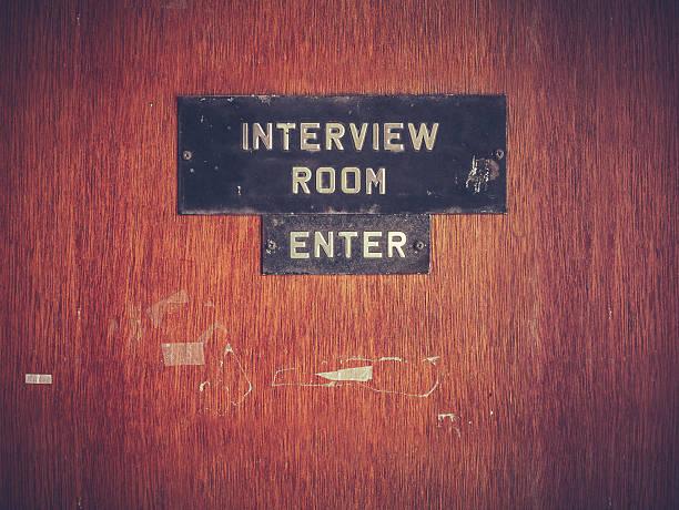 Retro Grunge Interview Room Door Retro Filtered Image Of A Grungy Interview Room Door police meeting stock pictures, royalty-free photos & images