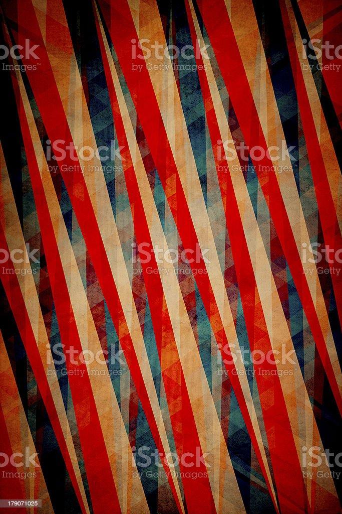 Retro Grungy Wallpaper Pattern royalty-free stock photo