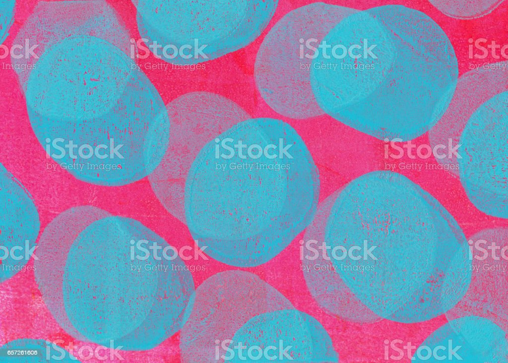 Retro handmade background with pink and blue stock photo
