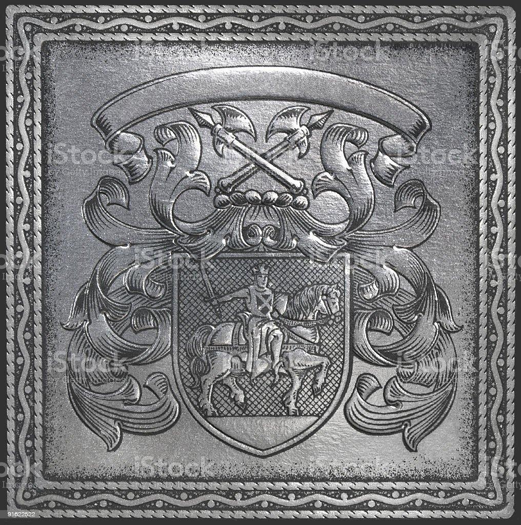 retro heraldry royalty-free stock photo