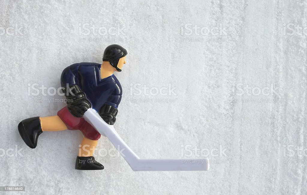 Retro Hockey Player royalty-free stock photo
