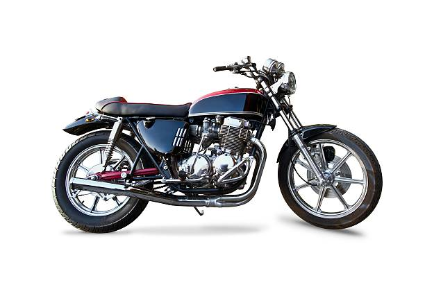 retro honda 1970s motorcycle - motorcycle stock photos and pictures