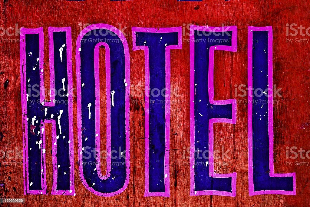 Retro Hotel Sign royalty-free stock photo