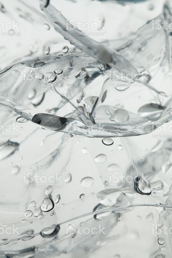 Retro illuminated plastic with water drops royalty-free stock photo