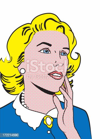 istock Retro Illustration - Woman Isolated 172214590