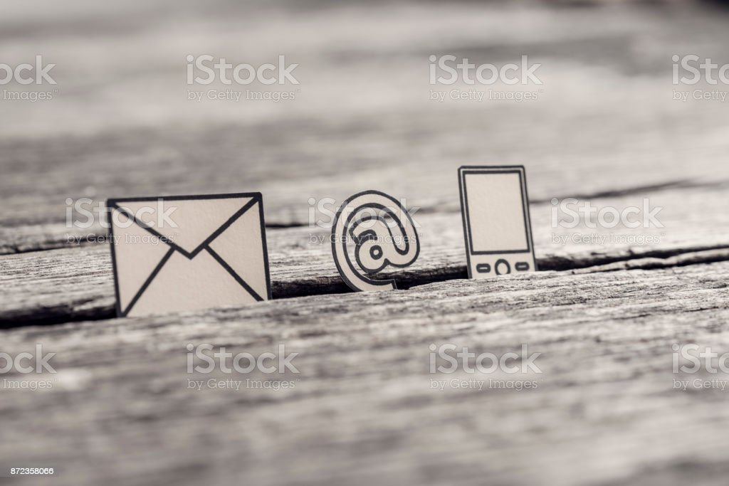 Retro image of business communications concept stock photo
