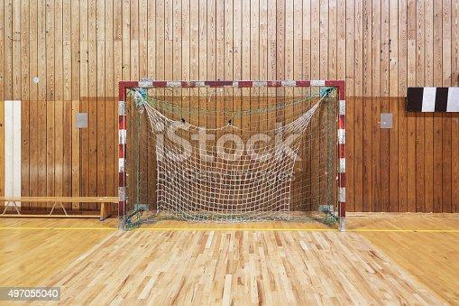 Retro Indoor Soccer Goal stock photo   iStock