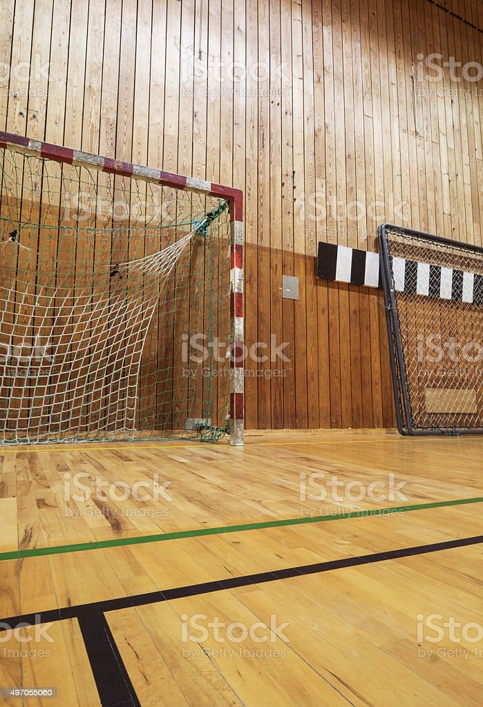 Retro Indoor Soccer Goal Royalty Free Stock Photo