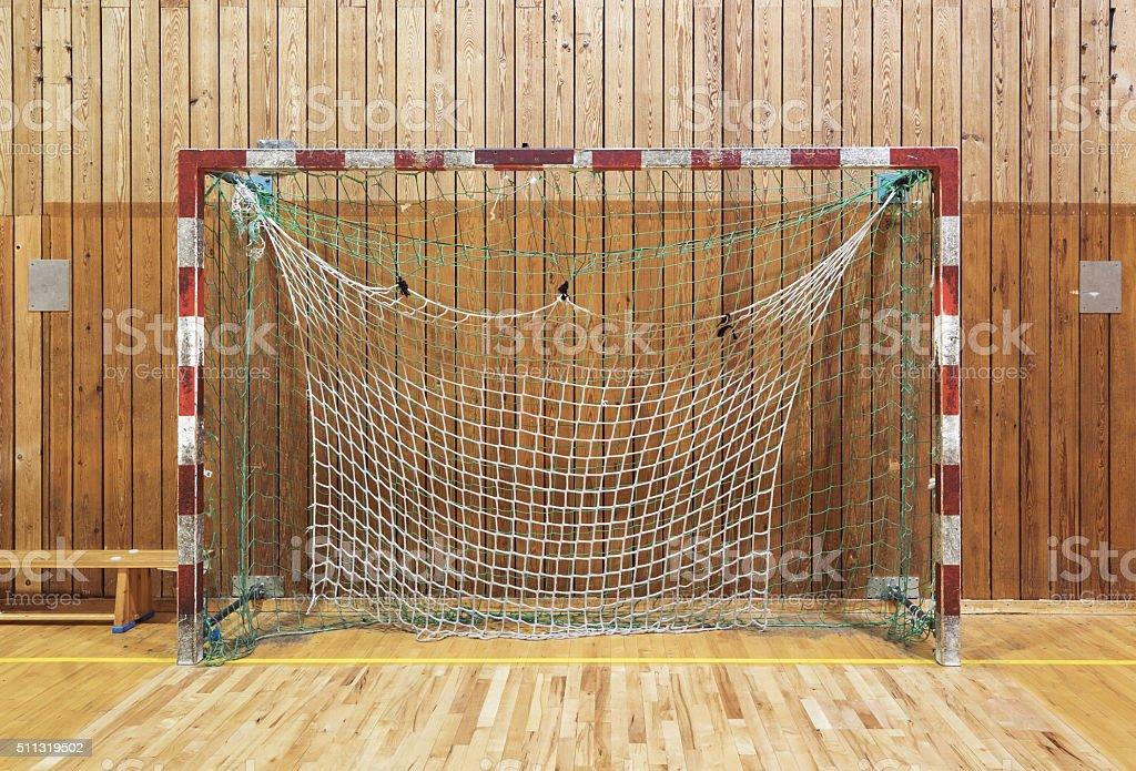 Retro Indoor Soccer Goal Royalty Free Stock Photo