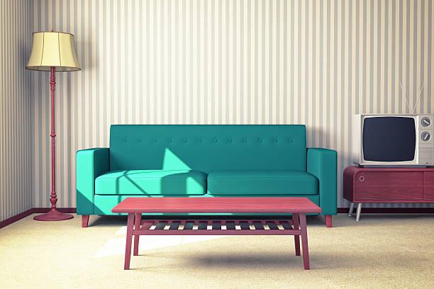 Retro Interior Design stock photo