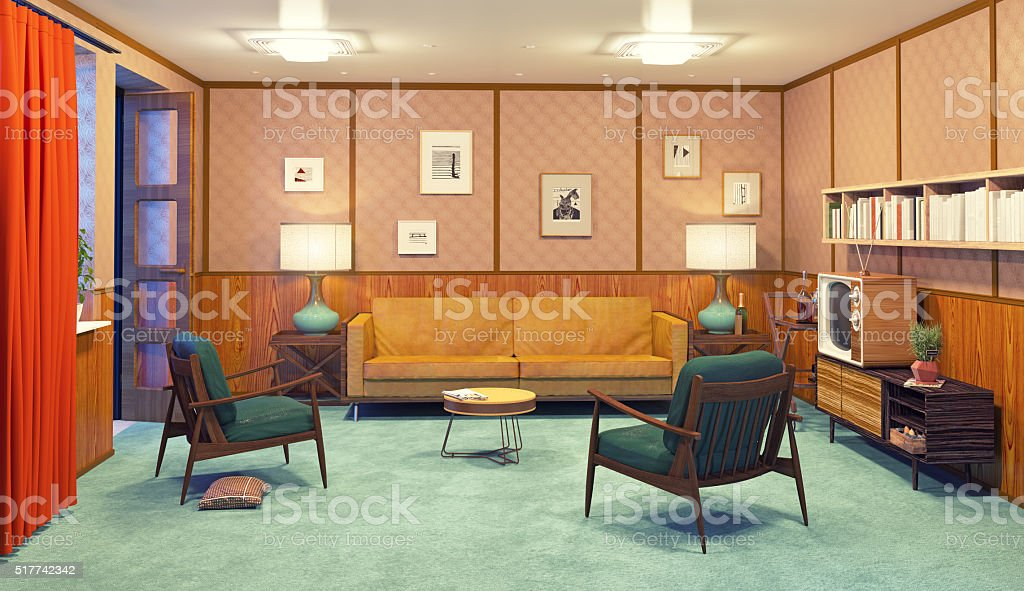 retro interior stock photo