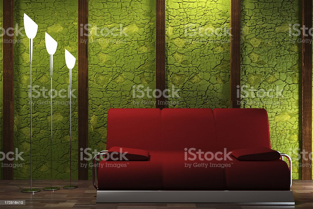 Retro Interior Render Stock Photo - Download Image Now - iStock